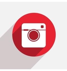 modern camera red circle icon vector image vector image
