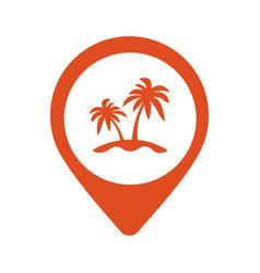 palm location icon vector image vector image