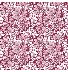 pattern flower vector image vector image