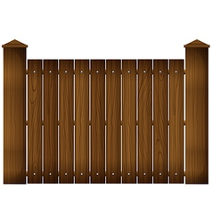 A wooden fence vector