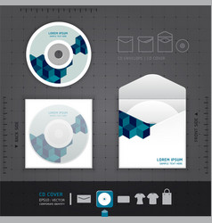 Abstract CD Design template vector