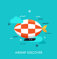 airship discover concept vector image