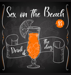 Alcoholc cocktail sex on the beach party summer vector