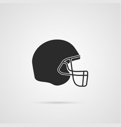 american football hemlet icon vector image