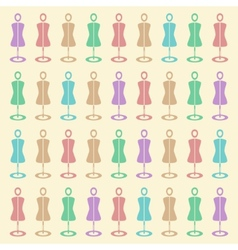 Background of the mannequins vector