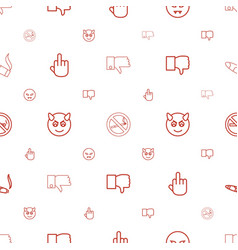 Bad icons pattern seamless white background vector