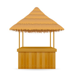 beach stall bar for summer holidays on resort in vector image