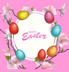 beautyful fresh background of happy easter holiday vector image
