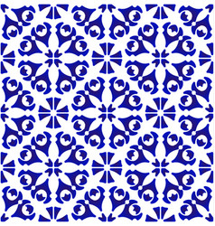 blue and white floral pattern vector image