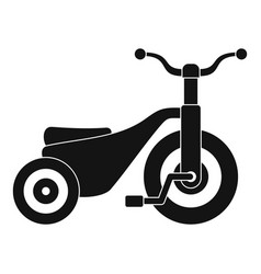 Boy tricycle icon simple style vector
