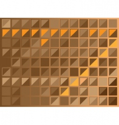 brown squares vector image