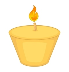 Candle icon cartoon style vector image