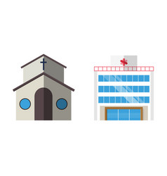 cartoon church facade vector image