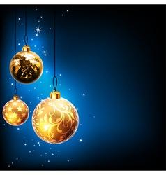Christmas balls design vector