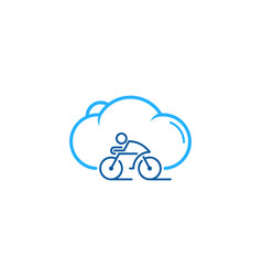 Cloud bike logo icon design vector