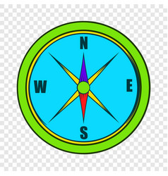 compass icon in cartoon style vector image