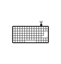 Computer keyboard icon simple style vector image
