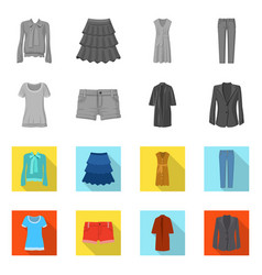 design of woman and clothing icon set of vector image