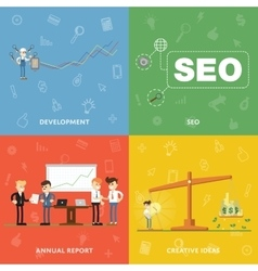Development SEO annual report creative ideas vector image