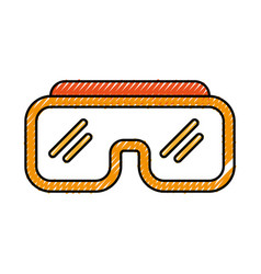 Diving googles isolated icon vector