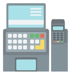 Electronic cash register vector