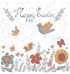 Elegant Easter post card vector image