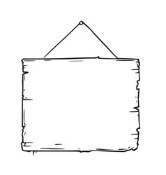 Empty blank sign board drawing vector