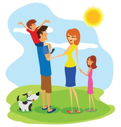 Family day vector image