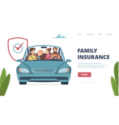 family insurance landing page insurance banner vector image