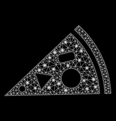flare mesh 2d pizza piece with spots vector image