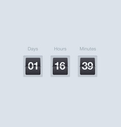 flip countdown timer clock counter for vector image
