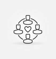 follewers outline icon or design element vector image