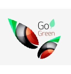 Go green abstract nature logo vector