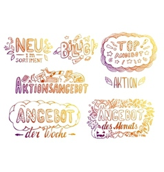 Hand-drawn labels vector image