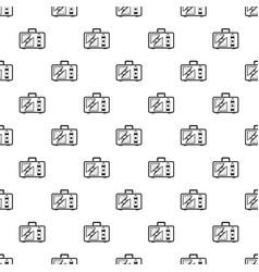 Handbag lunch pattern seamless vector