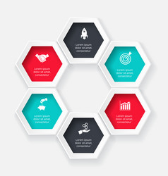 Hexagon for infographic vector