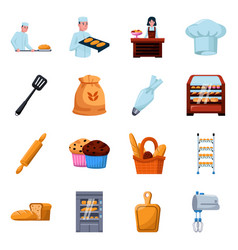 Isolated object bakery and natural icon vector