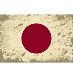 Japanese flag Grunge background vector