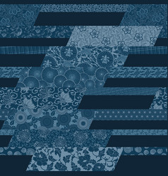 japanese traditional style fabric patchwork vector image