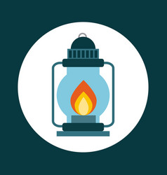 lantern icon design vector image