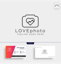 Love photography logo template icon element vector