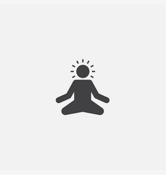 Meditation base icon simple sign vector