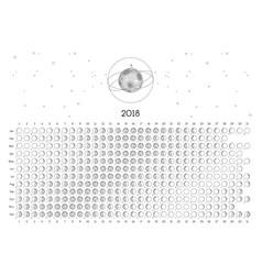 Moon calendar 2018 vector
