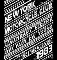Motor sport slogan typography design vector