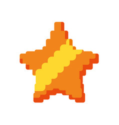 Pixelated star isolated icon vector
