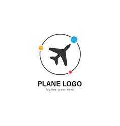 Plane logo template design plane logo with modern vector