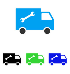 repair van flat icon vector image
