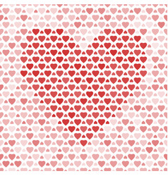 seamless pattern with hearts on light background vector image