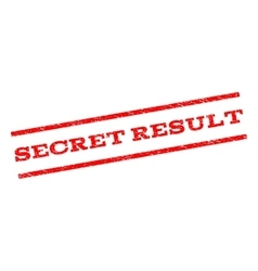 Secret Result Watermark Stamp vector