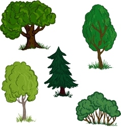 Set different trees vector